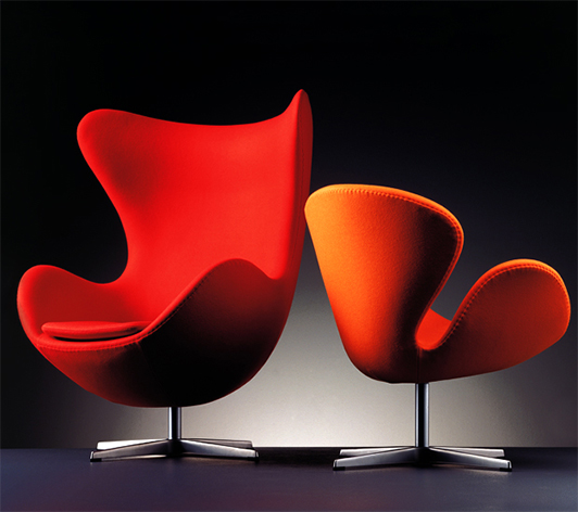 Swan and Egg chairs